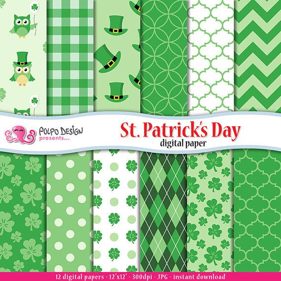 Carta digitale St Patricks Day. Sfondi gratis di di PolpoDesign