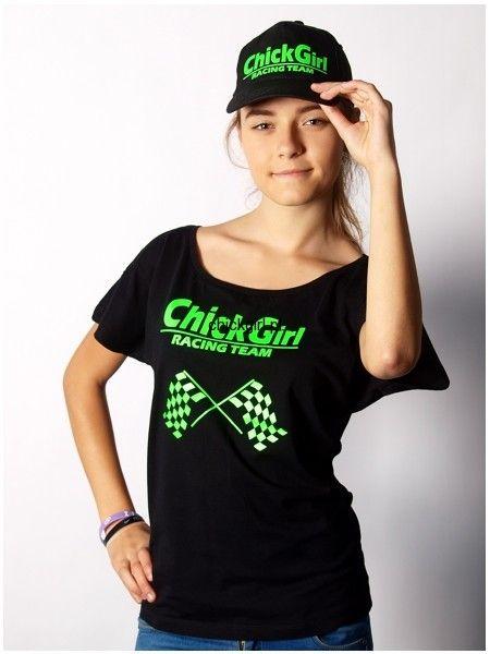 Bluzka z szerokim dekoldem ChickGirl Racing Team