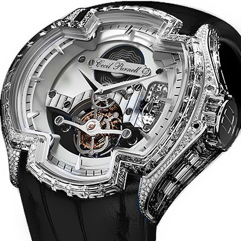 Lacroix White Gold Full Pave Mechanical Skeleton Watch For Men