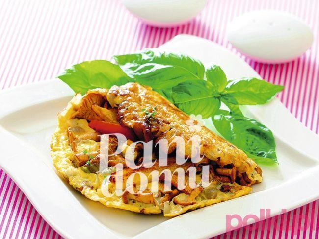 Omlet z kurkami i papryką