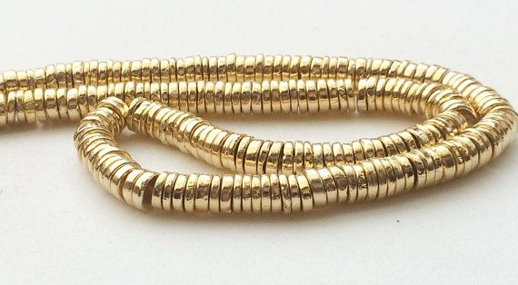 Gold Pyrite Tyre Beads Gold Pyrite Plain Spacer by gemsforjewels