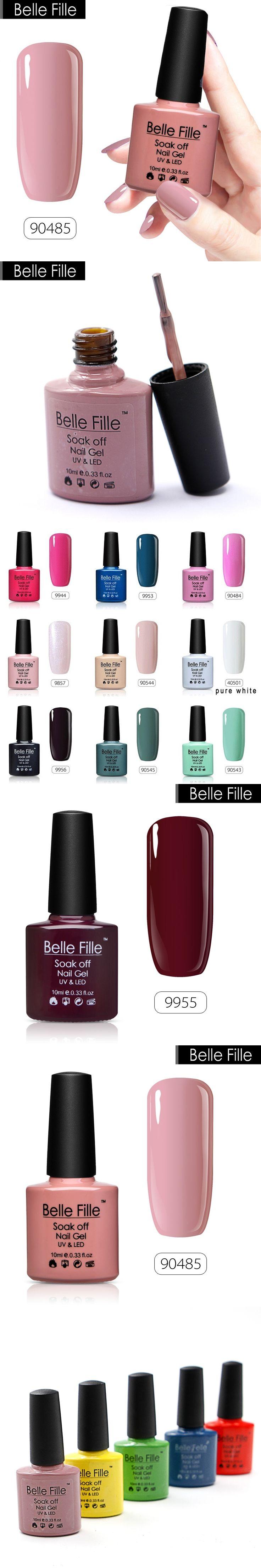 BELLE FILLE 79 Colors Gel Nail Polish UV 10ml Pink Soak Off Gel Polish LED Gel For Nails Varnish Base Coat Vernis Semi Permanent