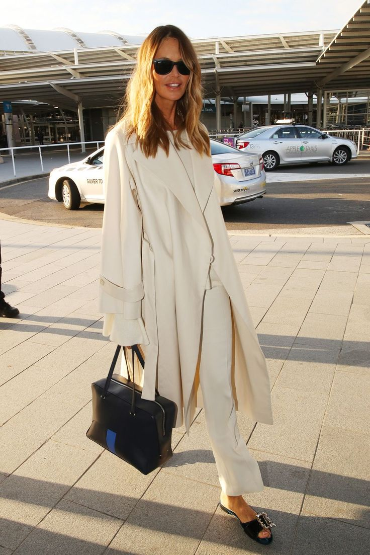 The Best Red Carpet-Worthy Celebrity Airport Outfits #refinery29  http://www.refinery29.com/celebrity-airport-style-photos-travel-outfits#slide-12  Elle MacphersonIs this what traveling like a '90s supermodel looks like? If so, where's our $10K so we can get out of bed?...