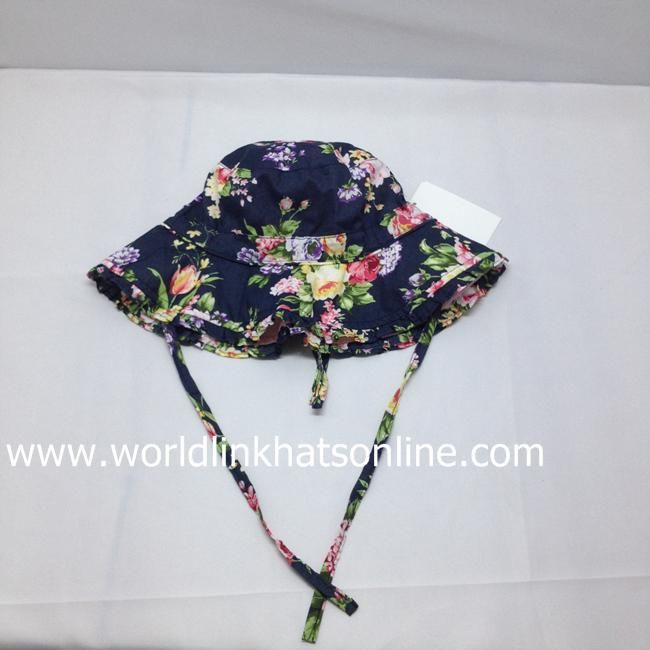 2015 wholesale pattern printed bucket hat with string
