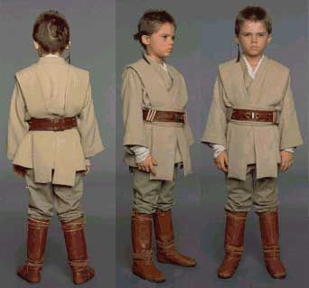 Young Anakin Skywalker - costume views