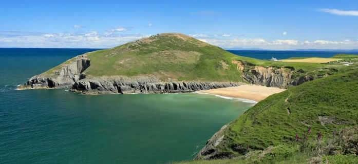Mwnt Beach, Cardigan Bay, West Wales, Uk