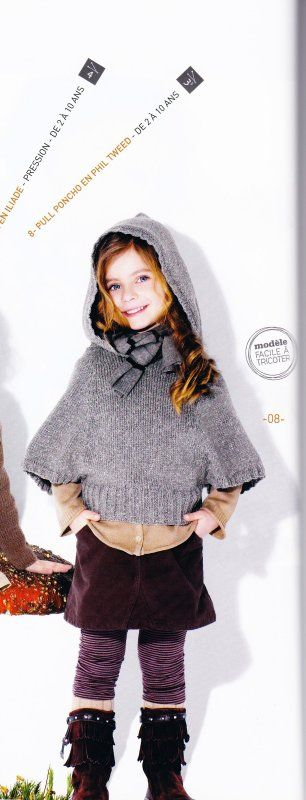 Modèle d'un pull pour fille de 2 à 10 ans,j'ai déjà fait un modèle pour femme du même genre sans capuche,ici c'est un modèle Phildar. N'oublions pas que les pulls de saisons froides se font en été....