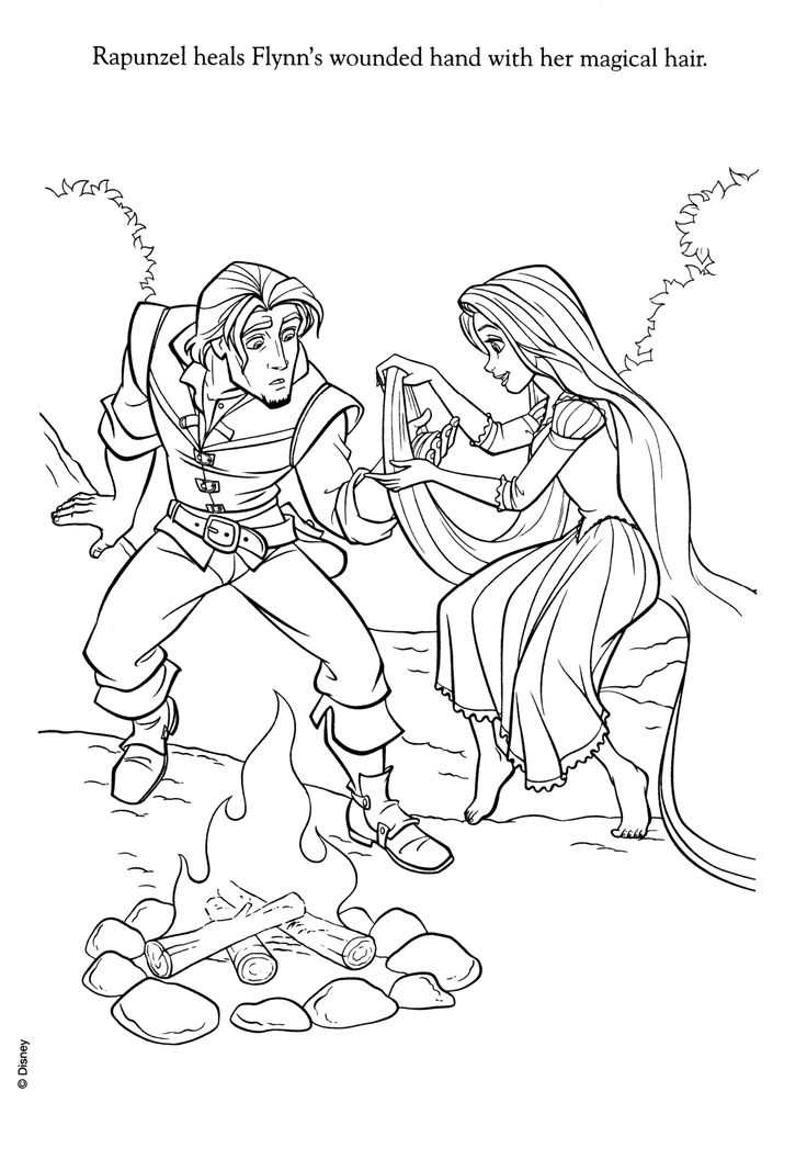 160 best Disney Tangled Coloring Pages Disney images on Pinterest