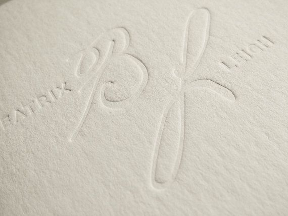 Wedding invitation card with letterpress printing // by BudapestWP, $5.95