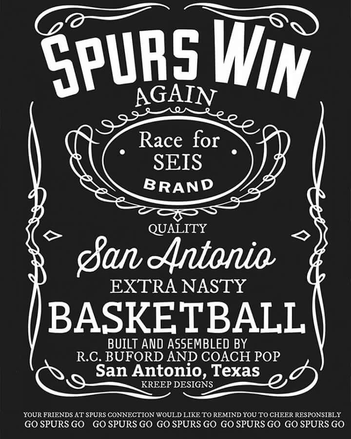 Spurs win again race for seis go spurs go san antonio for Custom t shirt printing san antonio