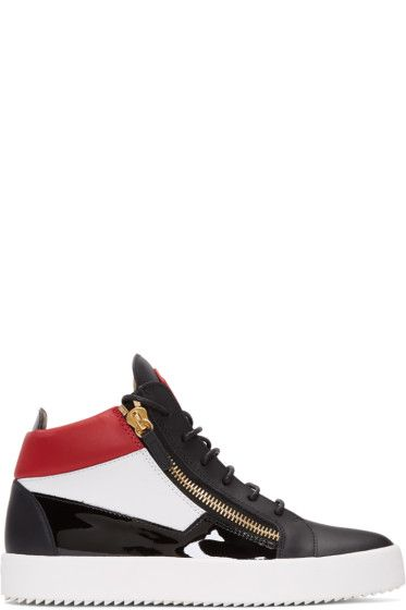 Giuseppe Zanotti - Tricolor London High-Top Sneakers