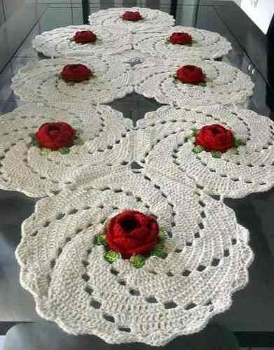 Caminos de mesa a crochet buscar con google carpetas for Camino de mesa a crochet