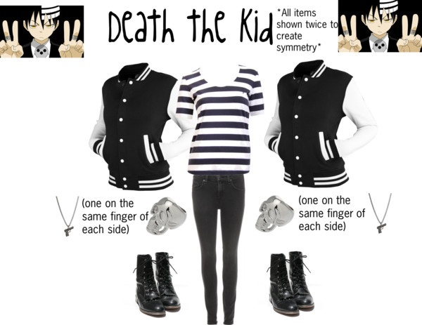 Death the Kid from Soul Eater......jokes on them it's not semetric or the boots wouldn't face the same way