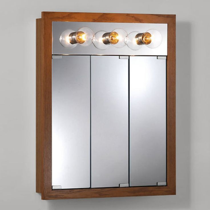 jensen medicine cabinet granville triview 3light 24w x 30h in surface