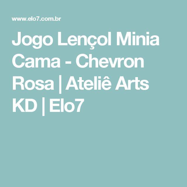 Jogo Lençol Minia Cama - Chevron Rosa | Ateliê Arts KD | Elo7