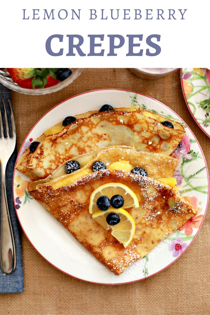 These Lemon Blueberry Crepes are the perfect breakfast to make for Mother's Day | the INSPIRED home