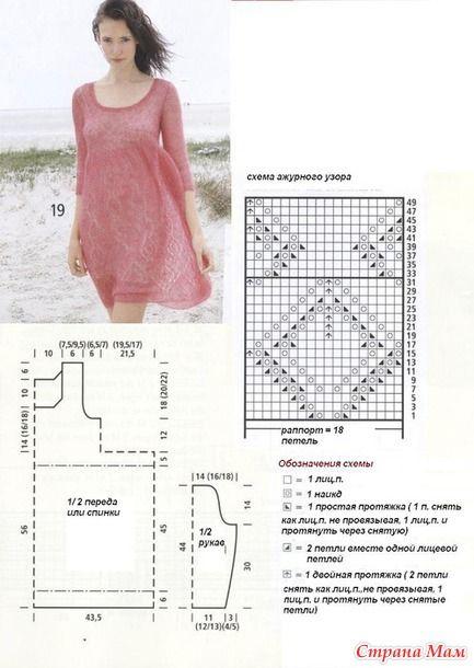 Платье из Rebecca Design Team ( перевод Lenok_r)  и    снуд