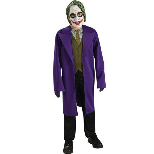 "Share     Batman The Dark Knight, Tween Size Joker Costume Fun costumes for kids and adults Whether it's for halloween, a themed party, or even for giggles{lang: """"}"