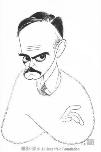 Eugene O'Neill ~ by Al Hirschfeld