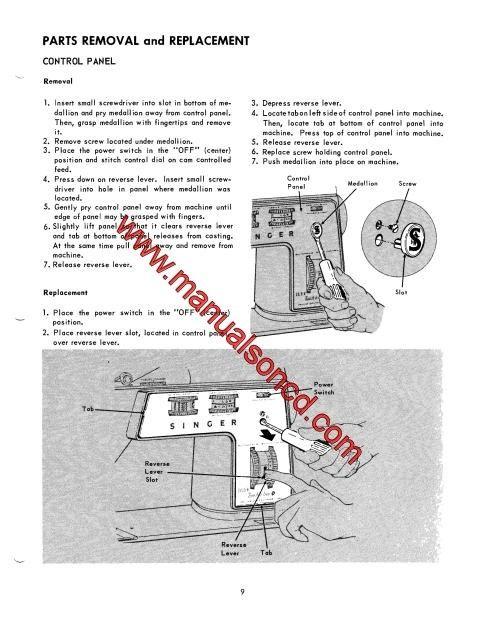 Singer 750 Sewing Machine Service Manual Repairs Parts Lists  Singer Service And Repair Manual