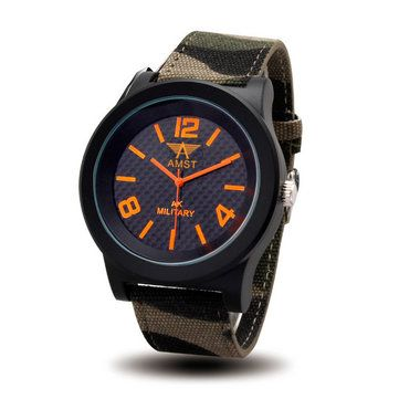 Only US$11.99 , shop AMST 3001 Military Canvas Band Men Analog Sport Watch at Banggood.com. Buy fashion Quartz Watches online.