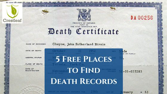 Looking for free online death records for genealogy? This great list of free resources can help you find ancestors' death certificates & vital records.