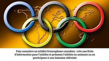 Si vos élèves aiment les sports, cette activité est pour eux! L'élève apprendra à connaître différents athlètes olympiques canadiens qui parlent français. Il cherchera l'information sur le site officiel de l'équipe olympique canadienne avant de remplir