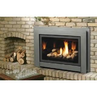 Check out the Kingsman IDV33 Propane Direct Vent Fireplace Insert with Fiber Split Oak Set ...