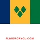 2' x 3' St. Vincent & the Grenadines High Wind, US Made Flag
