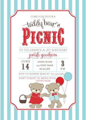 20 best Picnic images on Pinterest Ideas, Birthday parties and - picnic invitation template