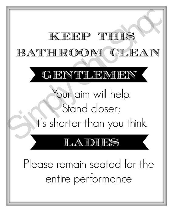 35 best bathroom rules images on pinterest bathroom for Bathroom decor rules
