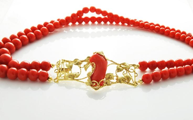 Collana Corallo Rosso a Gradazione