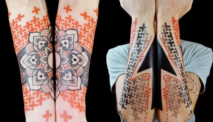 3d geometric shapes tattoo by Marco Galdo 2