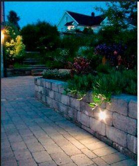 LED lys, som bl.a. kan legges i belegningsstein og mur - FINN