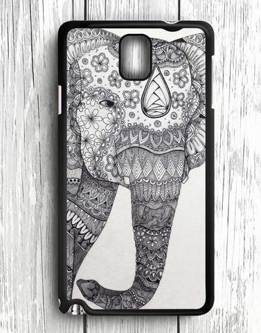 White Black Elephant Aztec Art Samsung Galaxy Note 3 Case