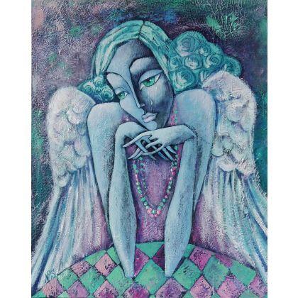 Nadia Siemek - obrazy akryl - Jedna łezka na pożegnanie