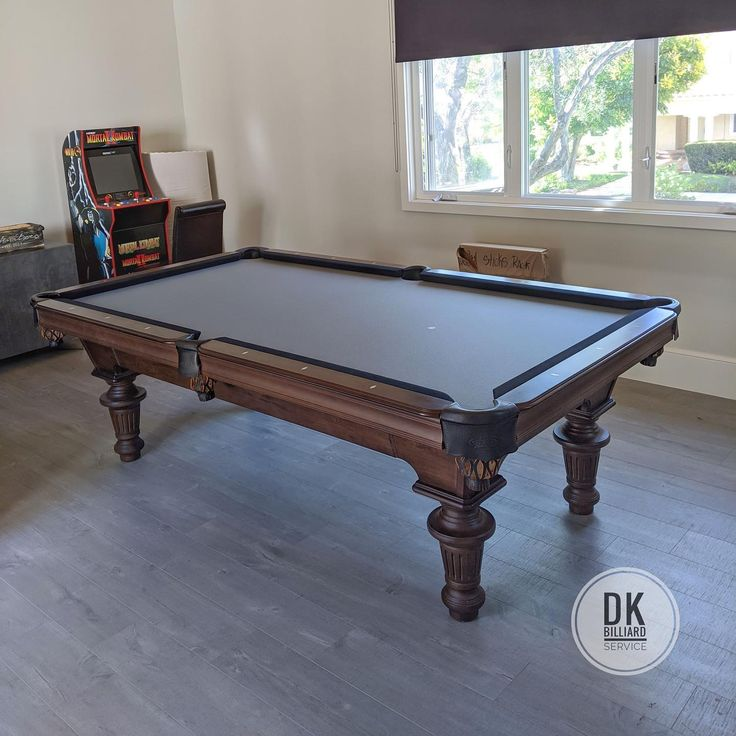 how to refelt a pool table rails