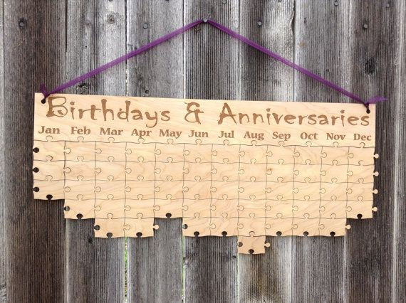 Birthday/ Anniversary Puzzle Calendar - Event Calendar w/90 blank pieces on Etsy, $55.00 FOR GRANDPARENTS?