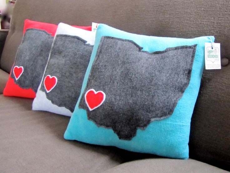 State of Ohio Pillow  Love Cincinnati by TheHappyGroundhog on Etsy https://www.etsy.com/listing/168775226/state-of-ohio-pillow-love-cincinnati