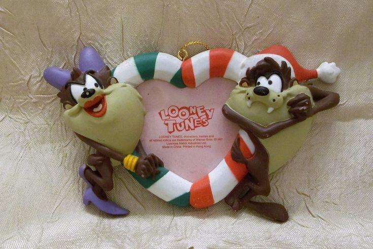 Looney Tunes Tasmanian Devil & She Devil Christmas Ornament Holiday New
