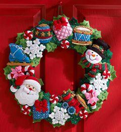 Bucilla ® Seasonal - Felt - Home Decor - Christmas Toys Wreath