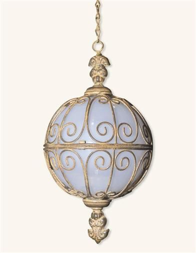 Ornate Solar Hanging Sphere from Victorian Trading Co.