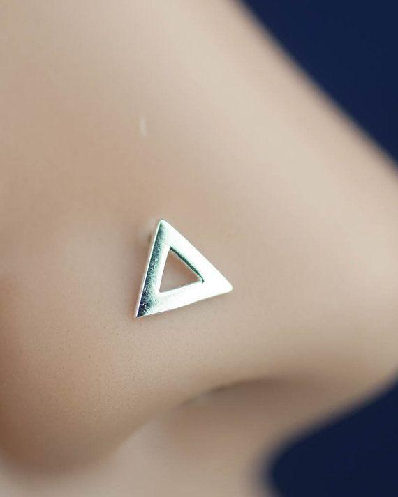 triangolo naso anello naso stud L post anello piccolo di CCJJMM