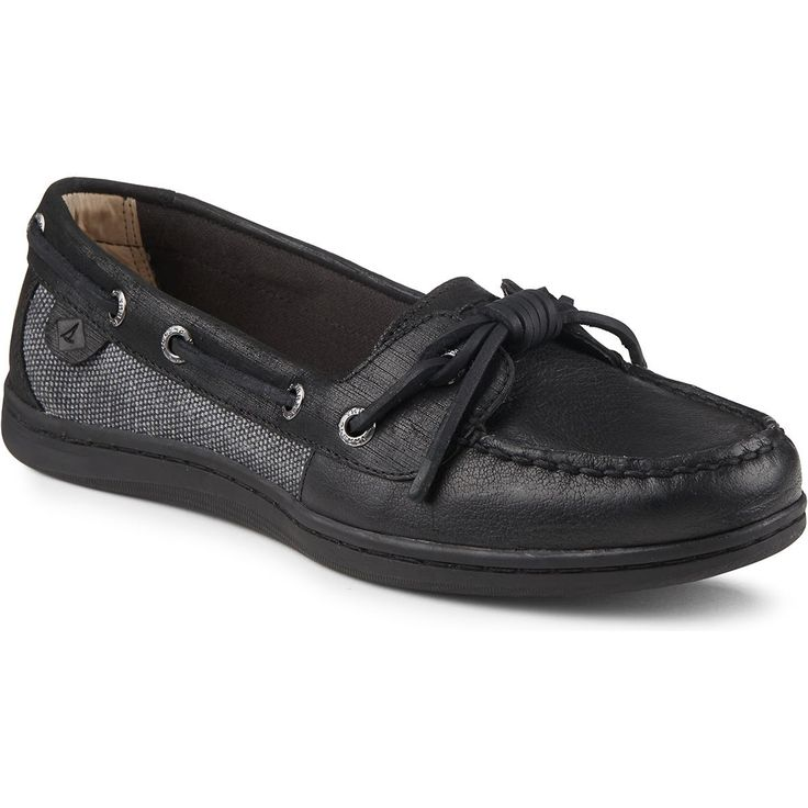 SPERRY Women's Barrelfish Boat Shoe - Black. #sperry #shoes #