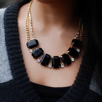 T+j Designs: Black Resin Necklace - Fab.com