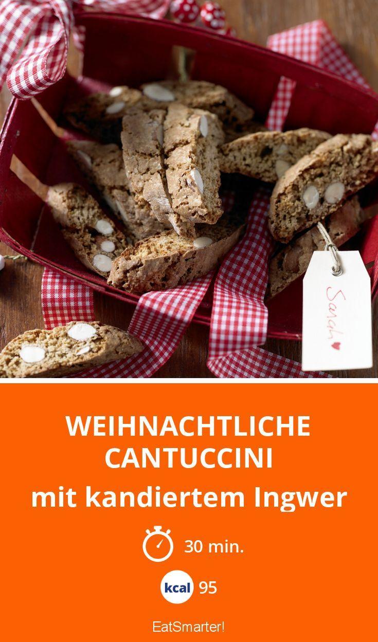 Weihnachtliche Cantuccini - mit kandiertem Ingwer - smarter - Kalorien: 95 Kcal - Zeit: 30 Min.   eatsmarter.de