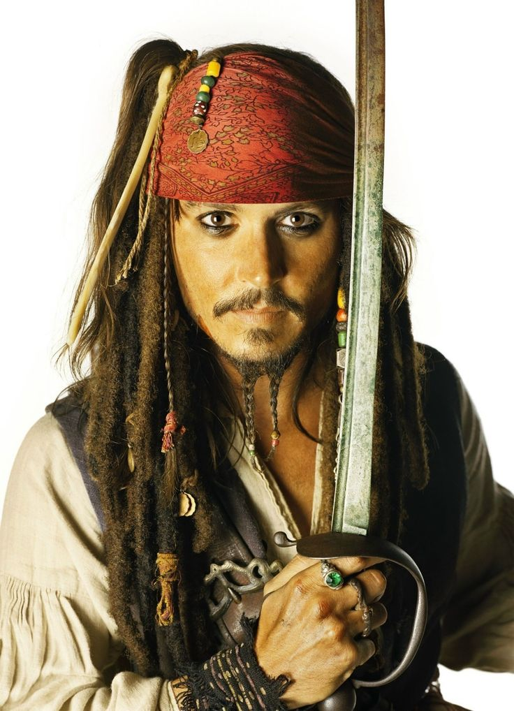 Jack Sparrow. Aye matey – me and me mighty sword be ready fer adventure. Are ye comin' with me? Pirates!