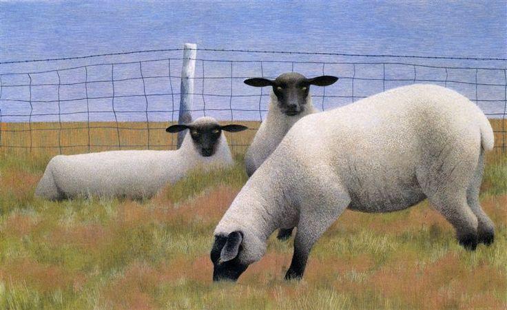 Three Sheep by Alex Colville