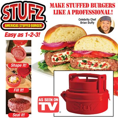 how to use the stufz burger maker