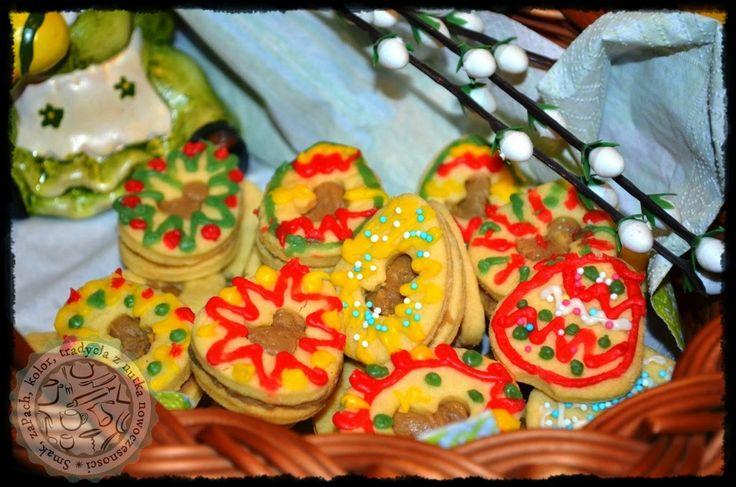Smak, zapach, kolor, tradycja z nutką nowoczesności...: Ciasteczka -  słodkie pisanki